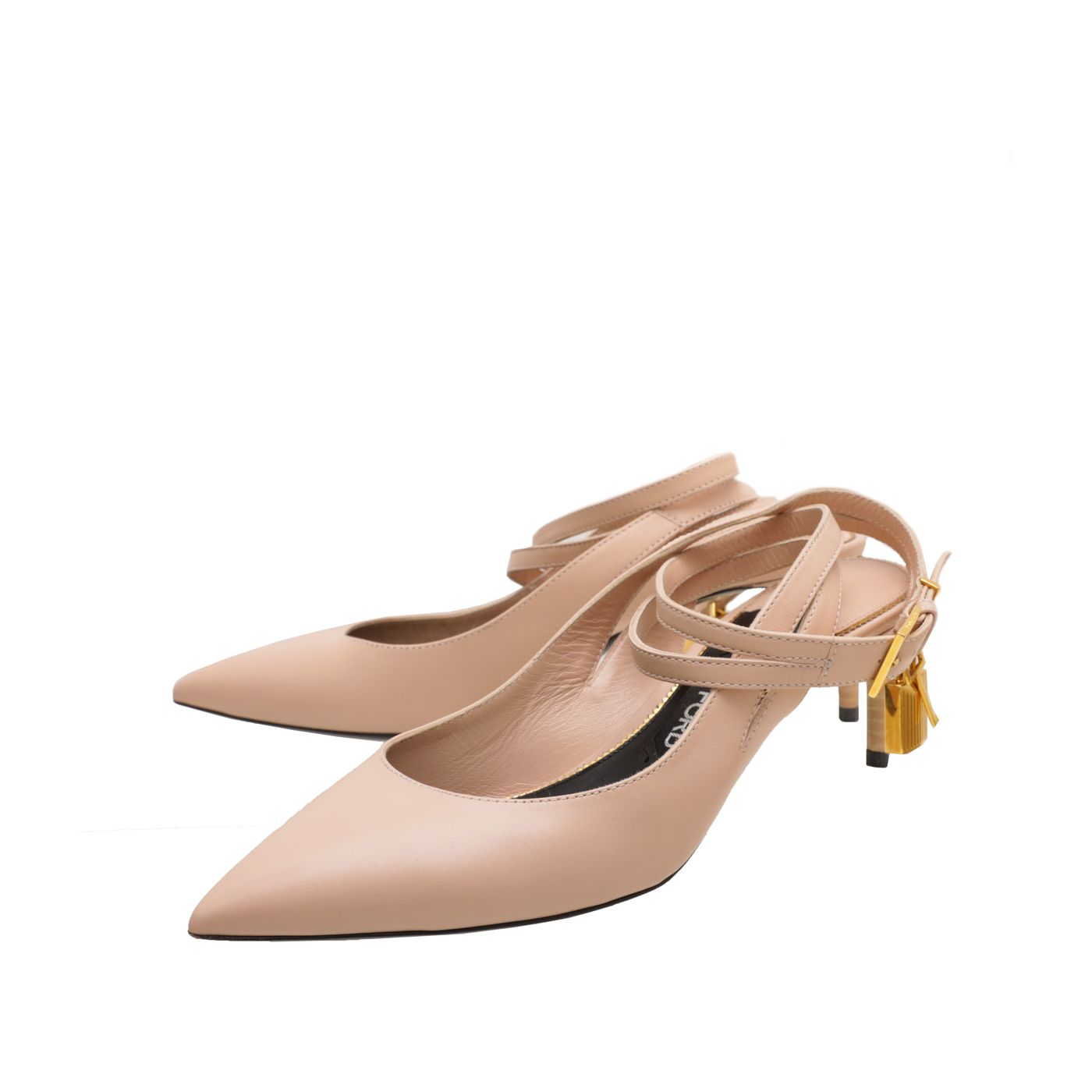 Tom Ford Nude Ankle Lock Strap Slingback Pumps 39.5