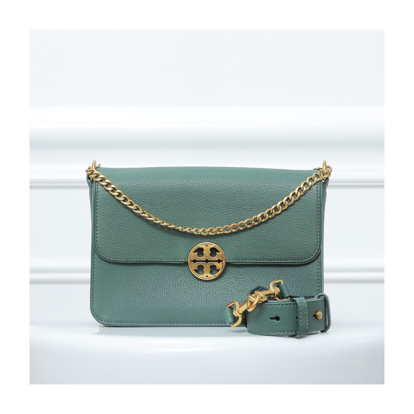 Tory Burch Forest Green Chelsea Convertible Bag