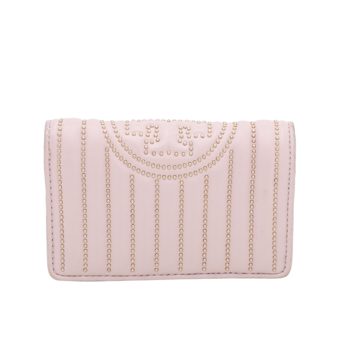 Tory Burch Soft Pink Fleming Mini Studs Wallet