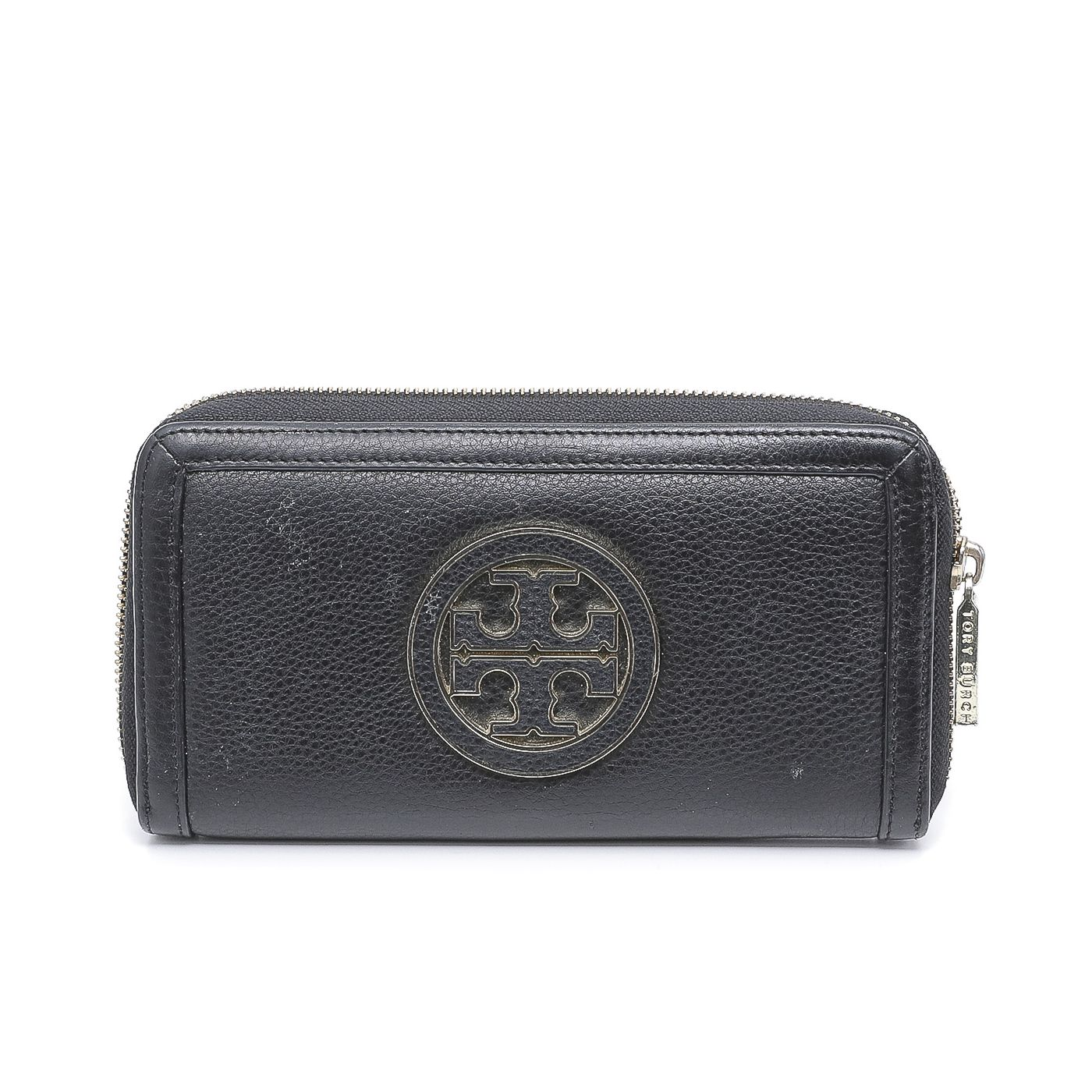 Tory Burch Black Holly Continental Zip Wallet
