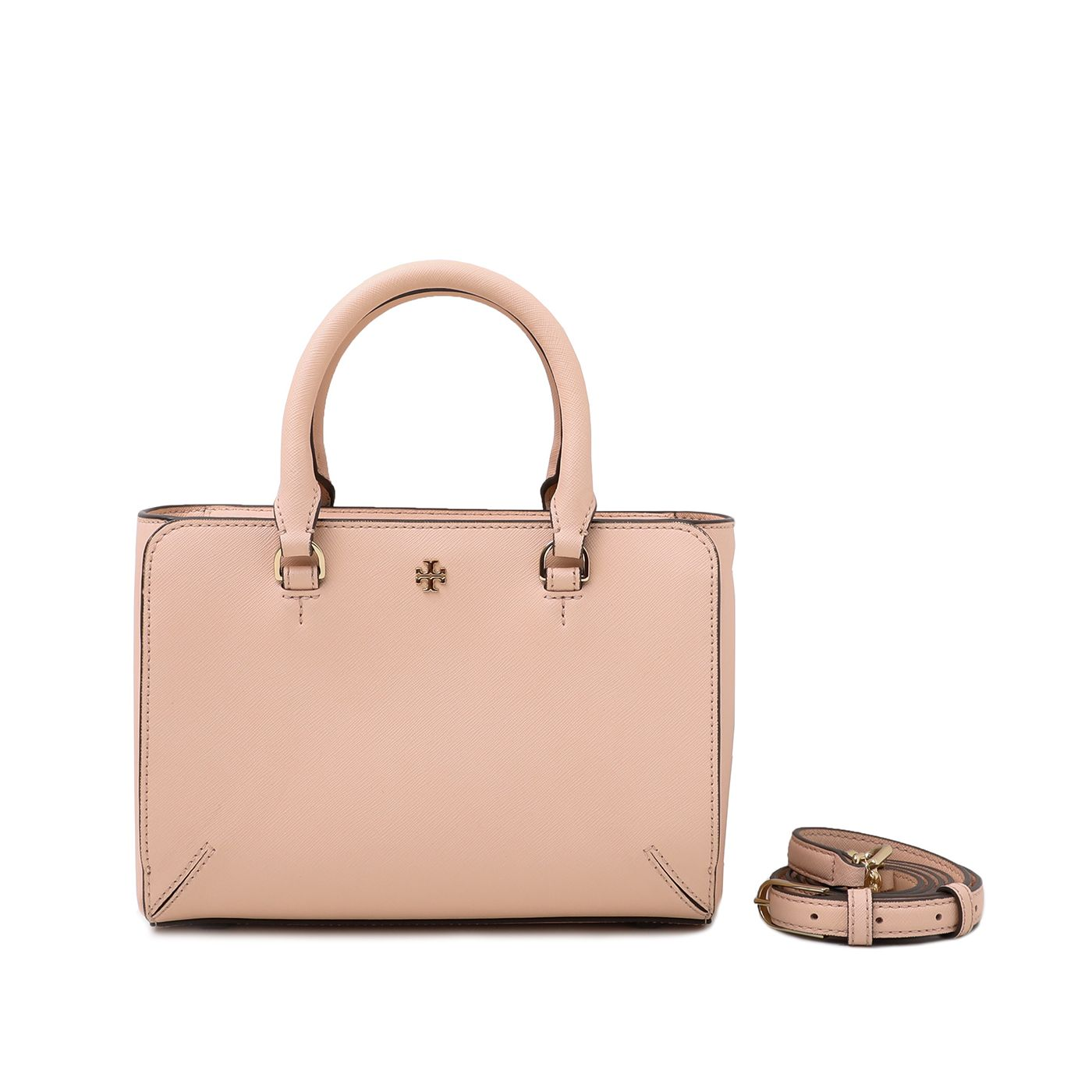 Tory burch Light Pink Robinson Micro Top Tote Bag