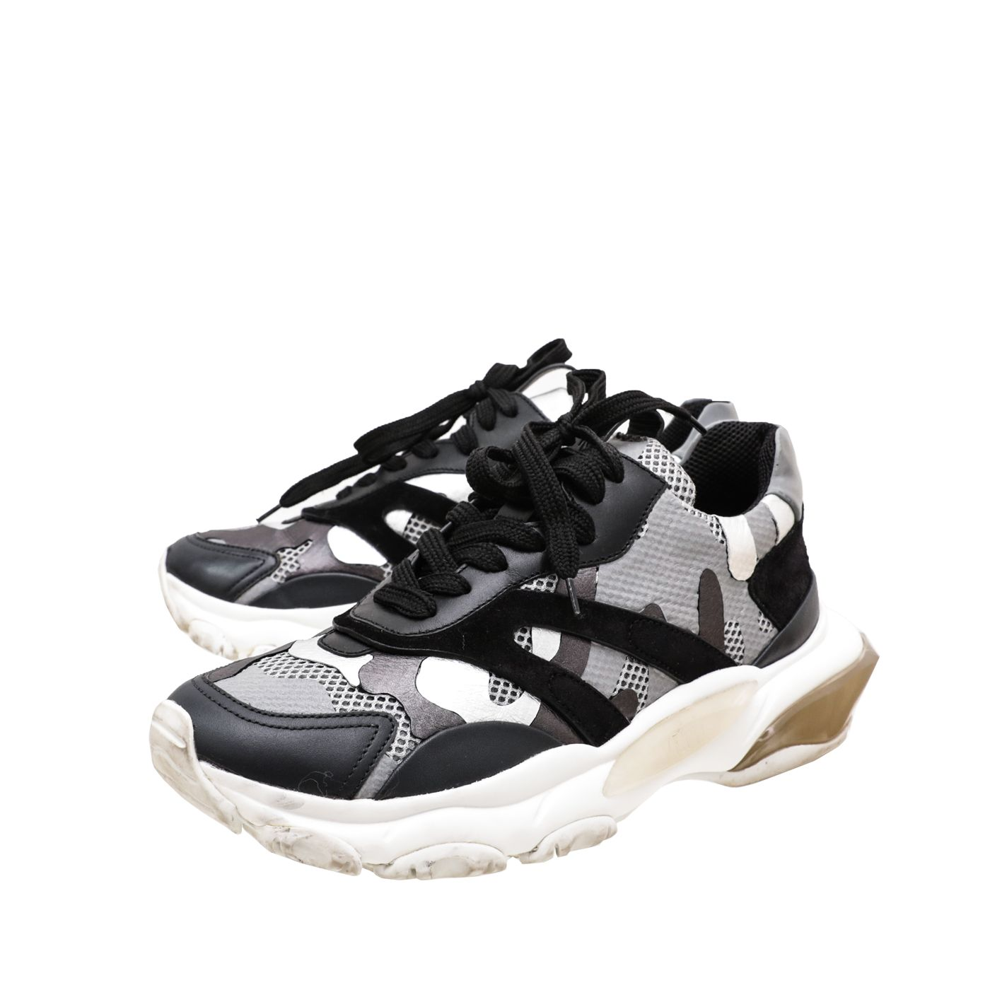 Valentino Tricolor Camou Bounce Sneakers 38.5