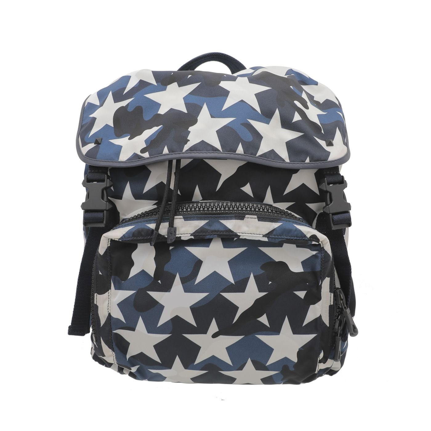 Valentino Tricolor Nylon Star Backpack Bag