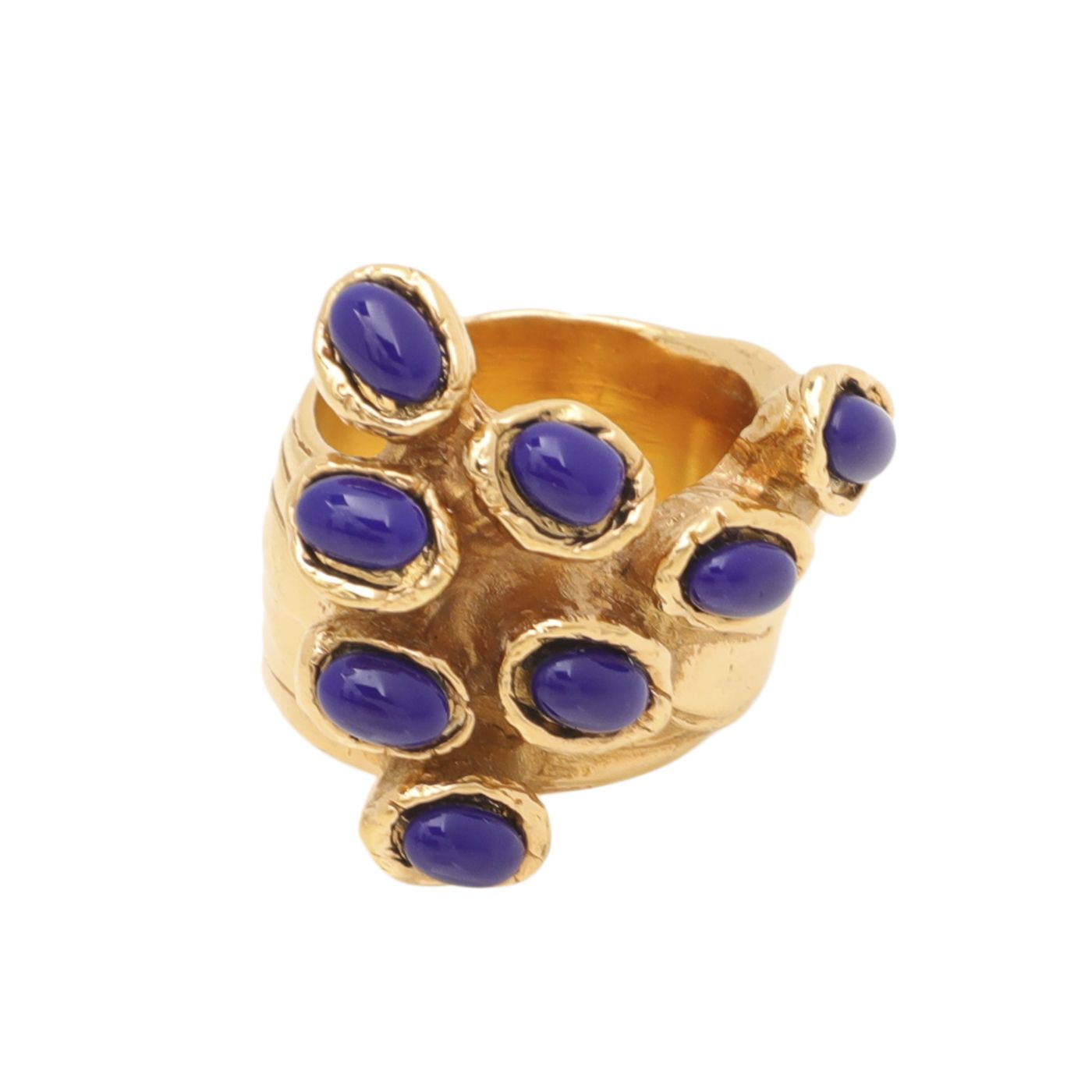 YSL Blue Arty Dots Ring 8