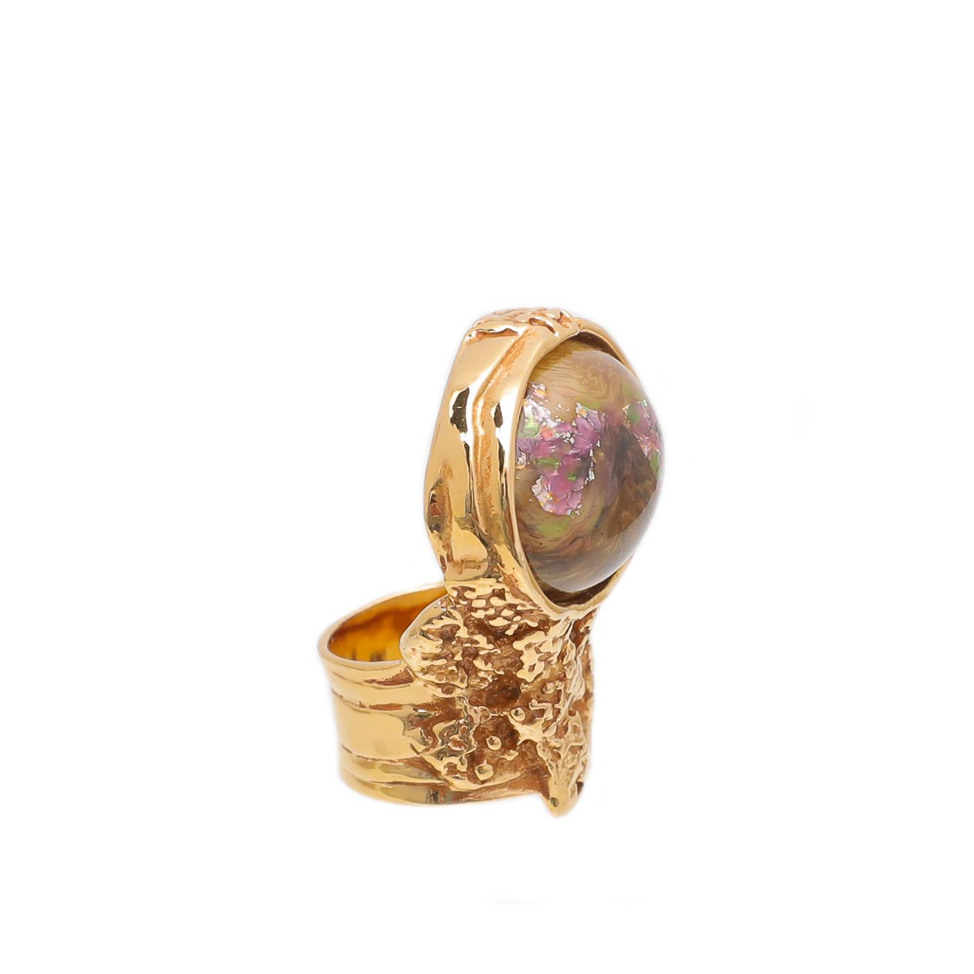 YSL Multicolor Arty Oval Ring 5