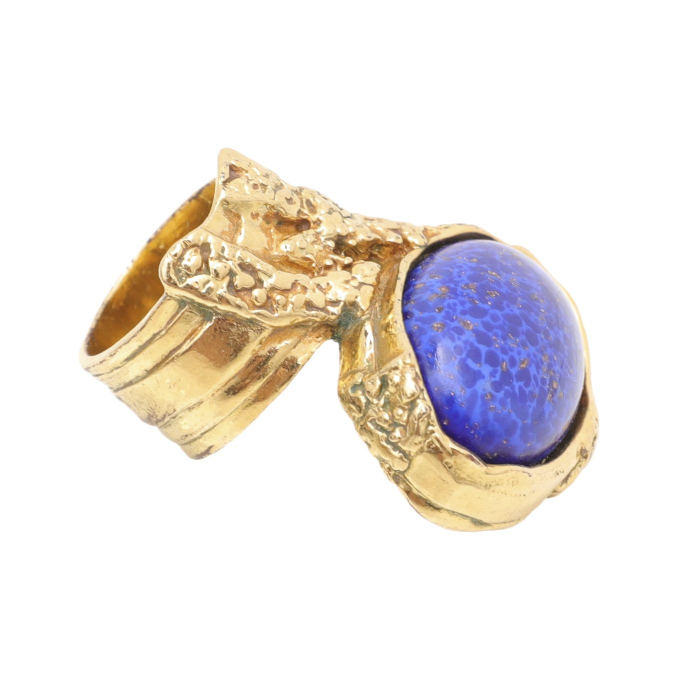 YSL Blue Arty Stone Ring 9