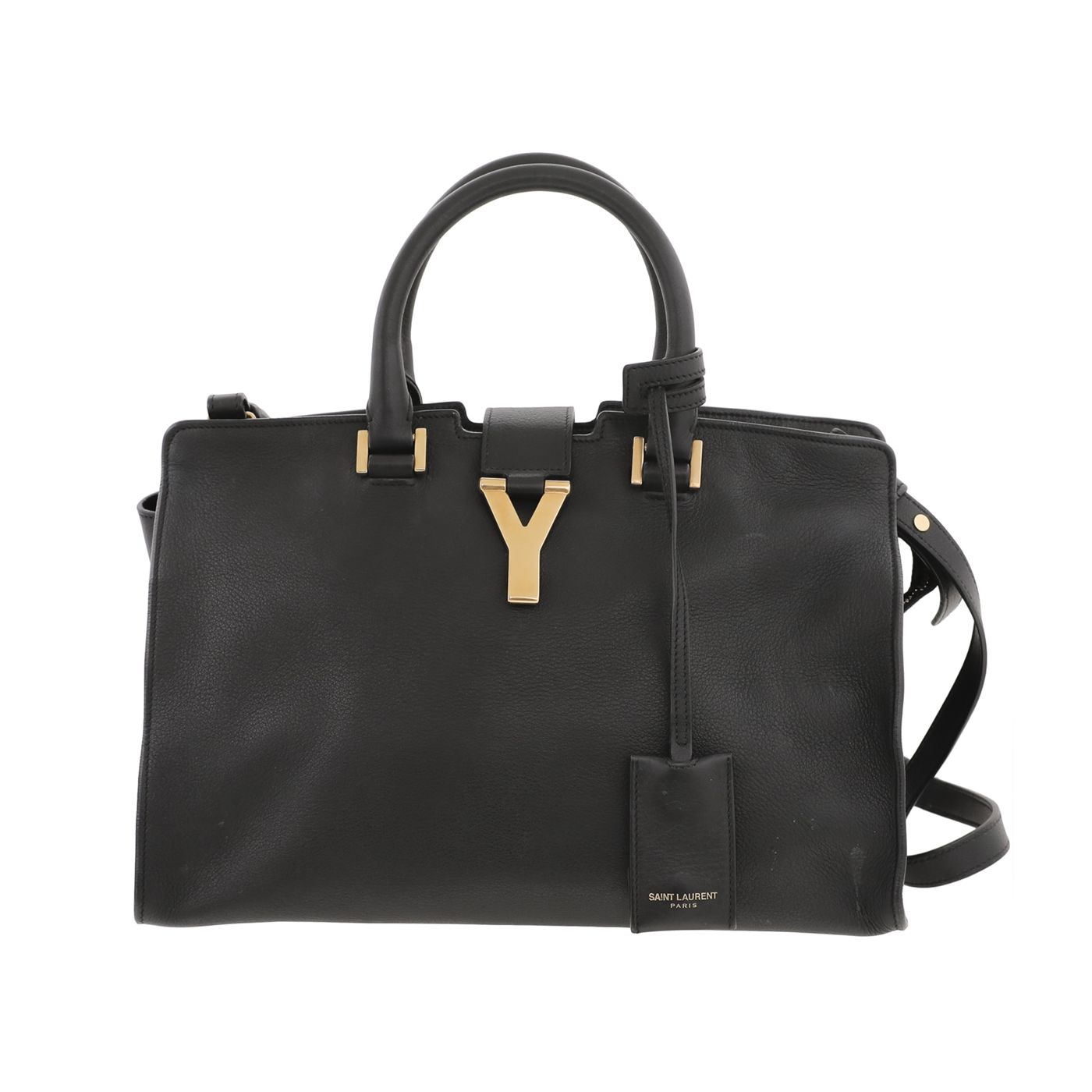 YSL Black Cabas Soft Chyc Small Bag