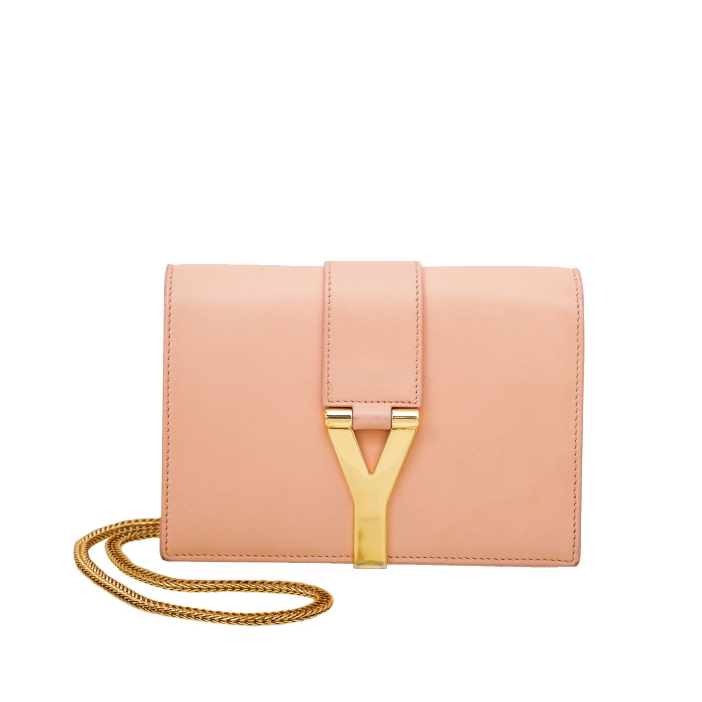 YSL Light Peach Chyc Mini Chain Bag