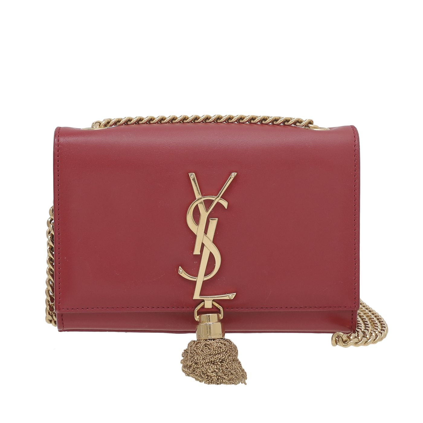 YSL Red Kate Tassel Chain Mini Bag