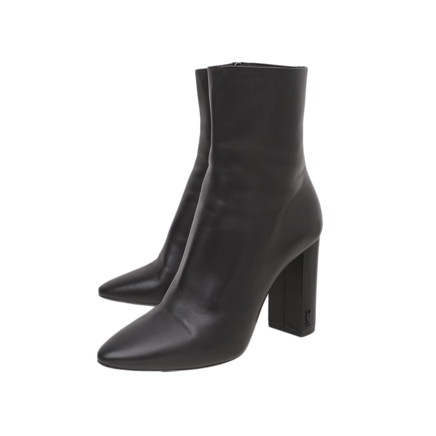 YSL Black Lou Ankle Boots 39