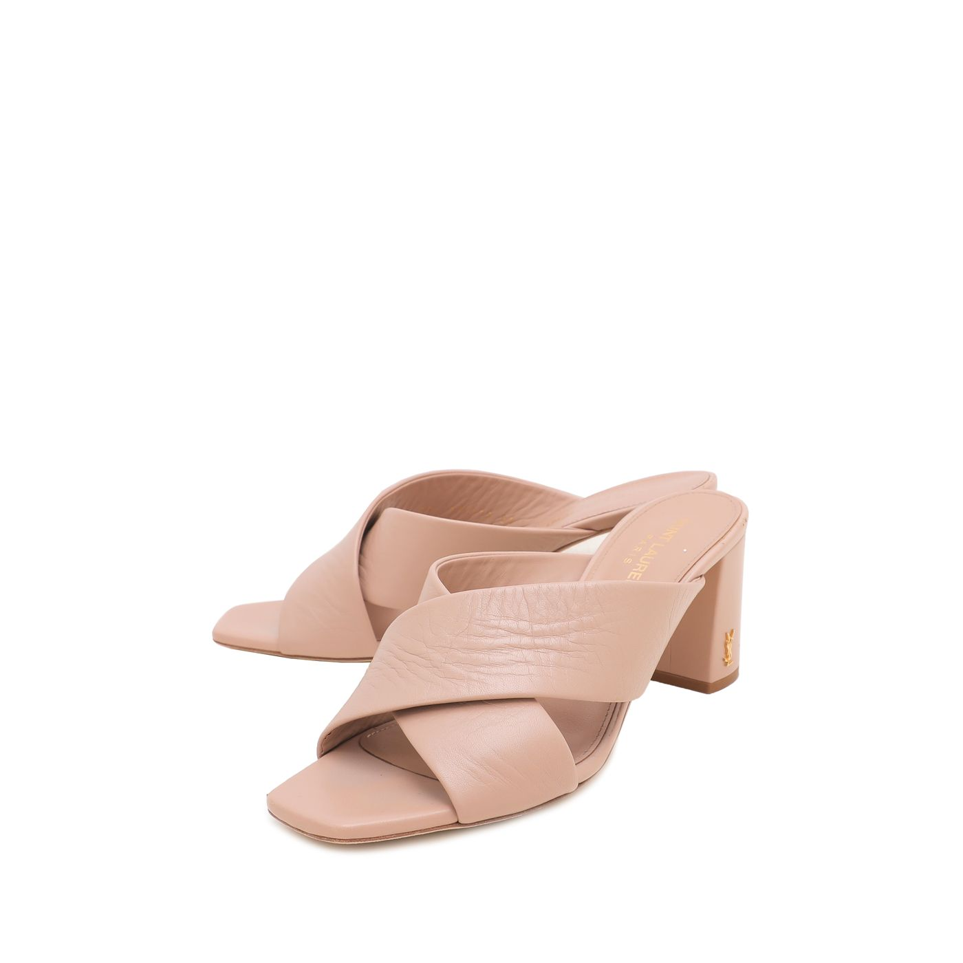 YSL Nude Loulou Criss Cross Sandals 38