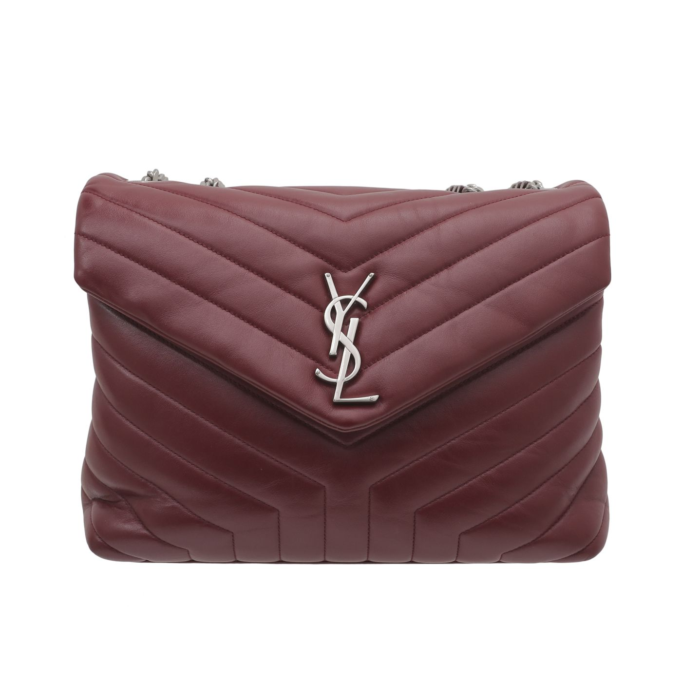 YSL Maroon Loulou Shoulder Bag
