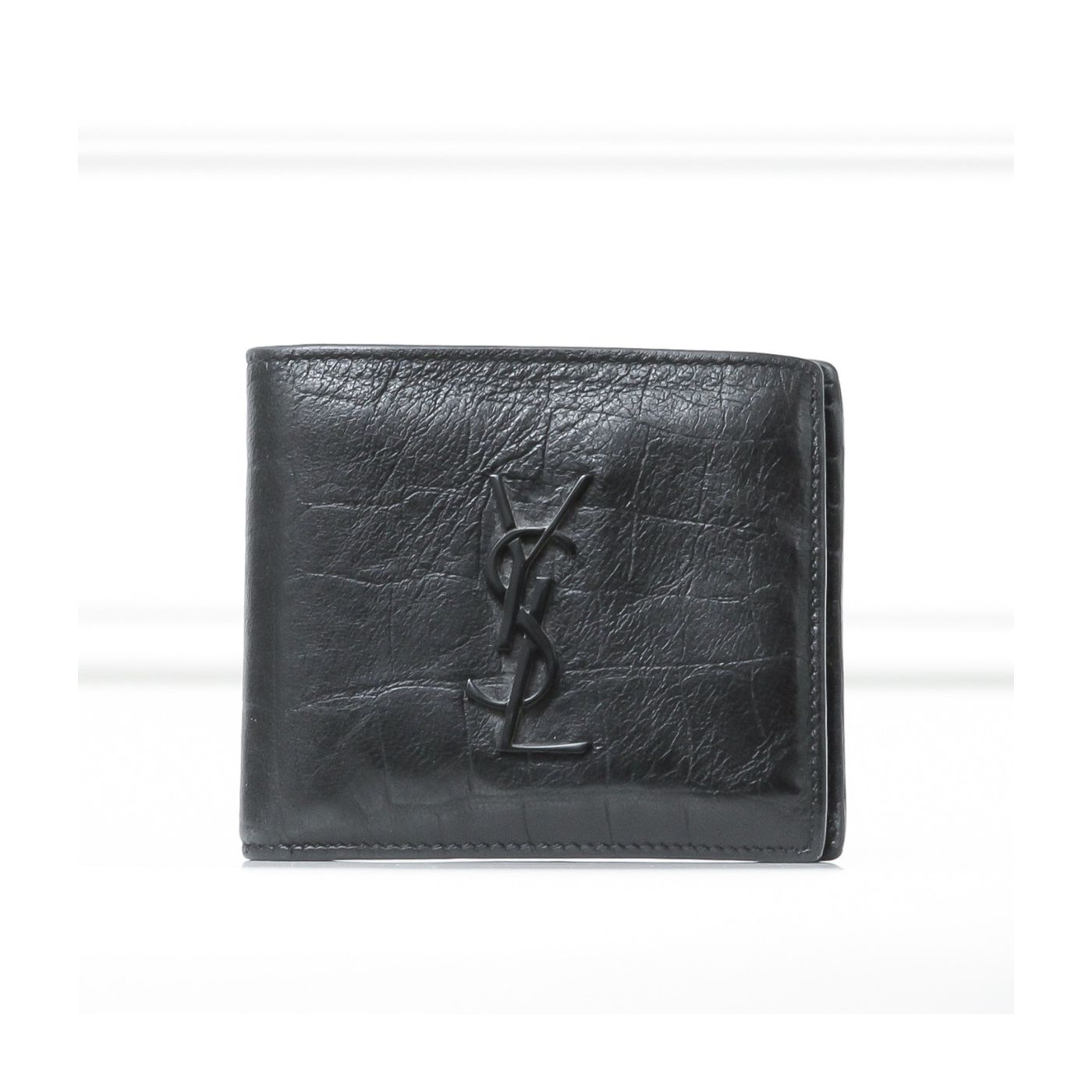 YSL Black East West Men's Wallet