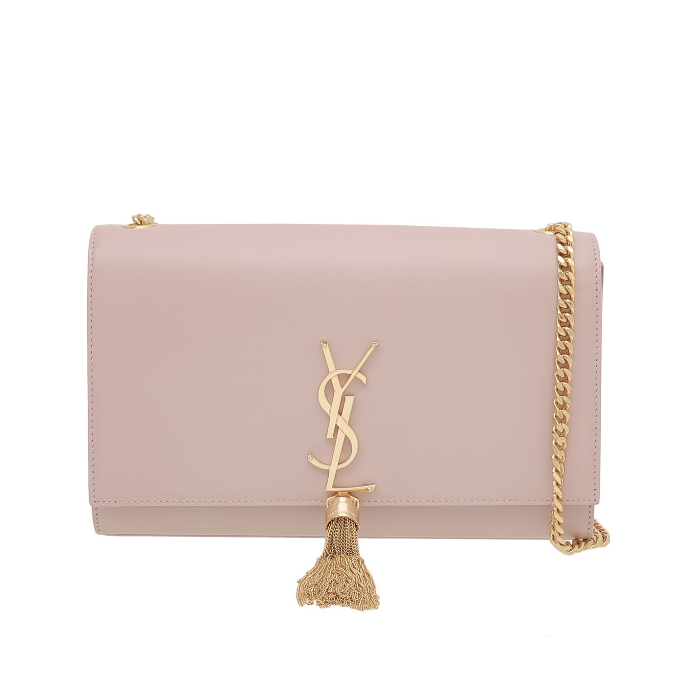 YSL Pink Monogram Kate Tassel Bag