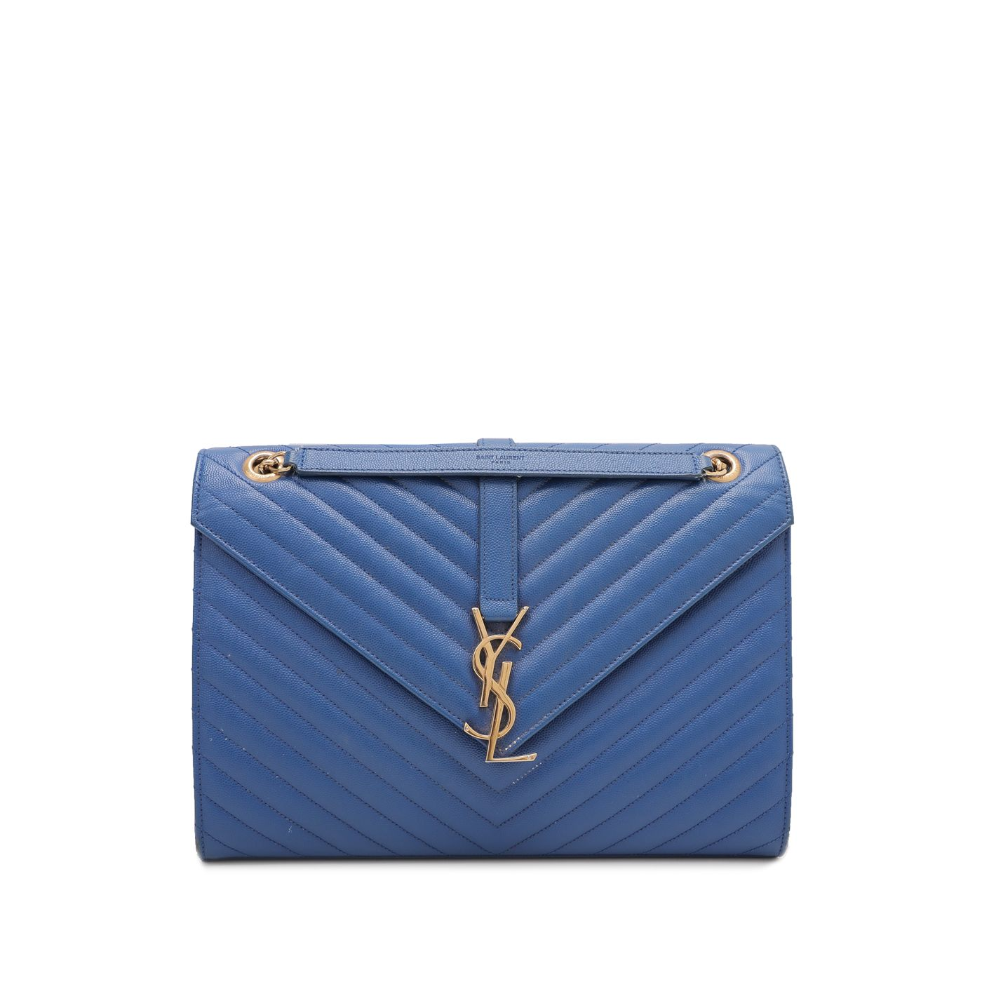 YSL Blue Monogram Satchel Bag
