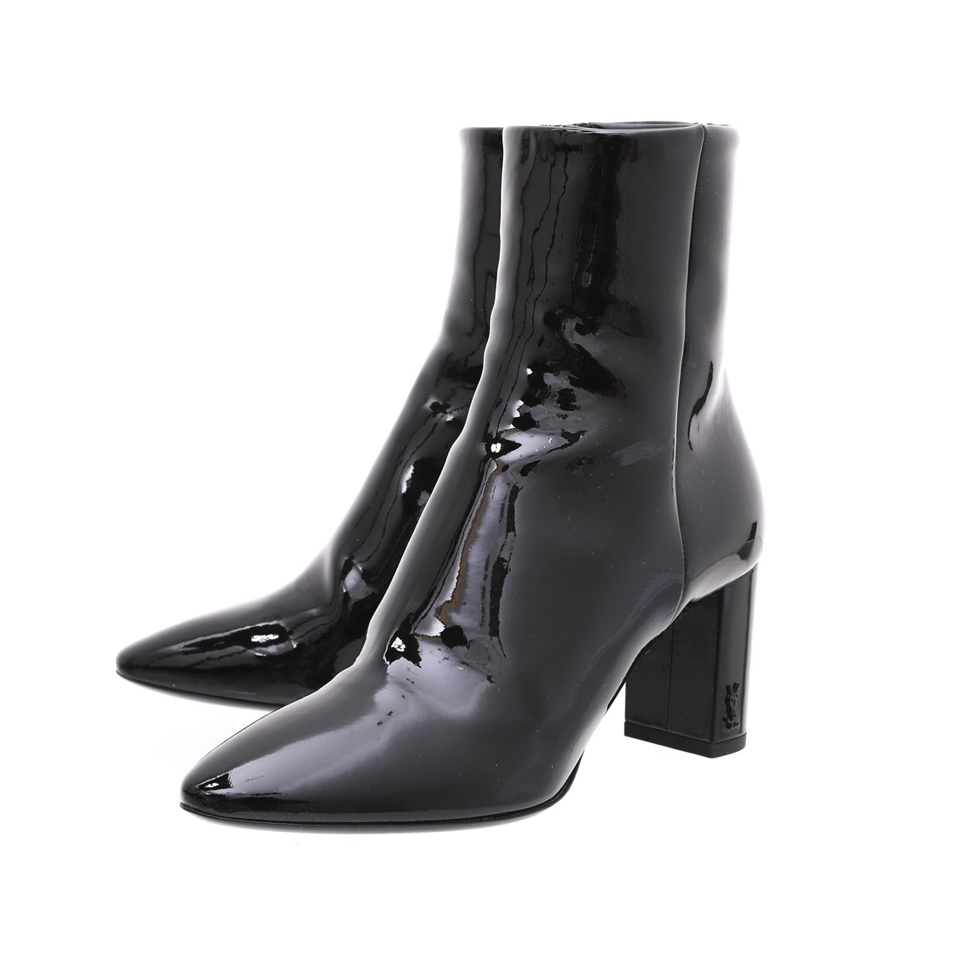 YSL Black Lou Ankle Boot 36.5