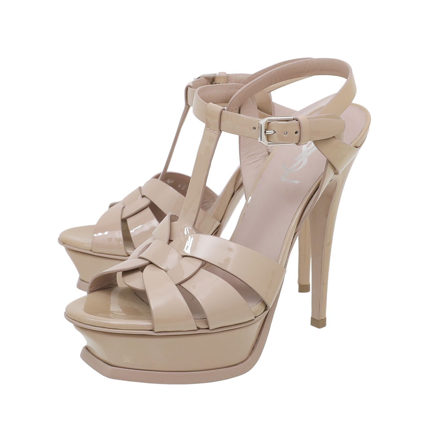 YSL Nude Tribute High Heeled Sandals 36