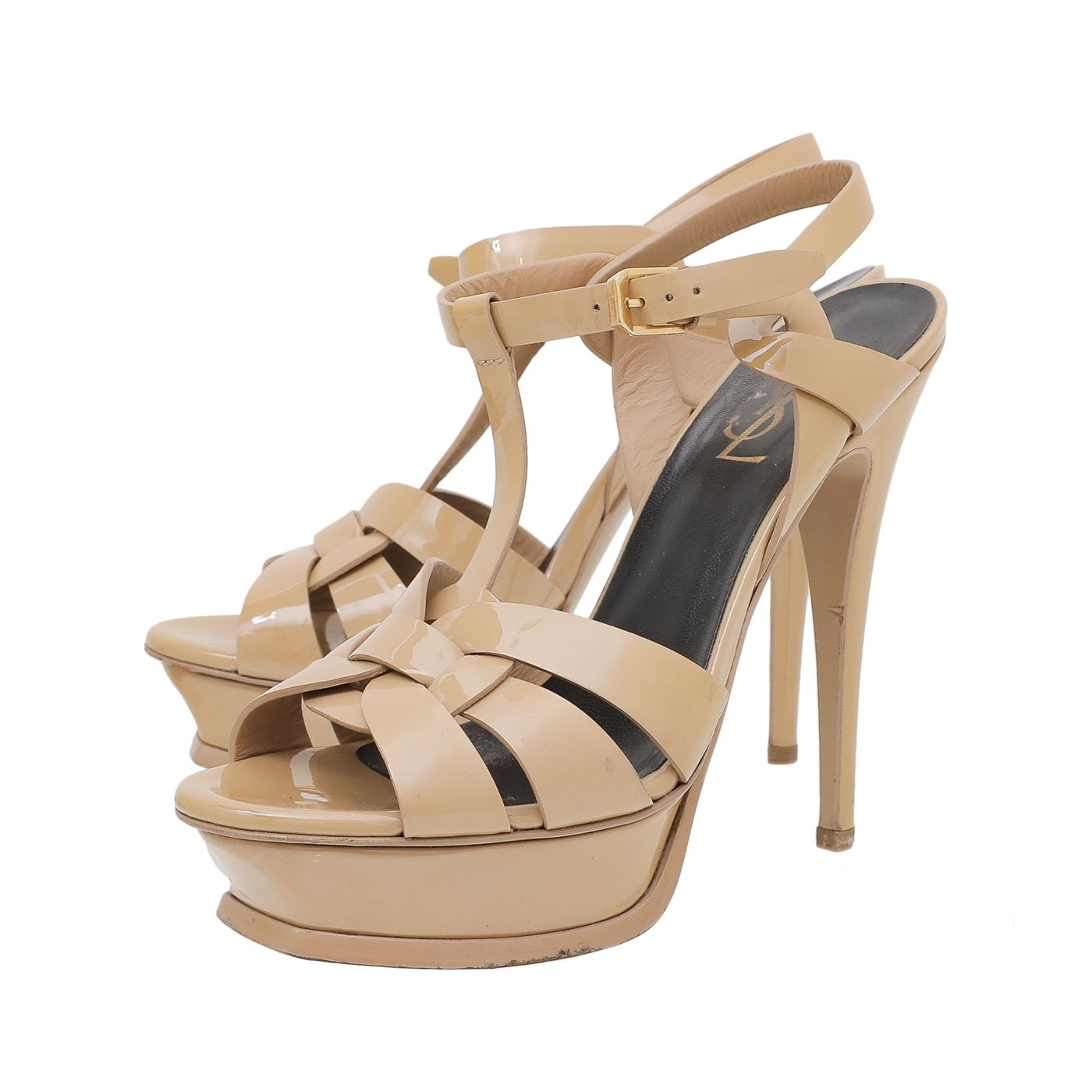 YSL Nude Tribute High Heeled Sandals 38.5
