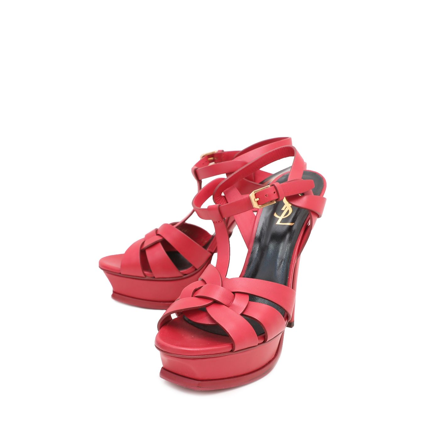 YSL Red Tribute Sandals 38
